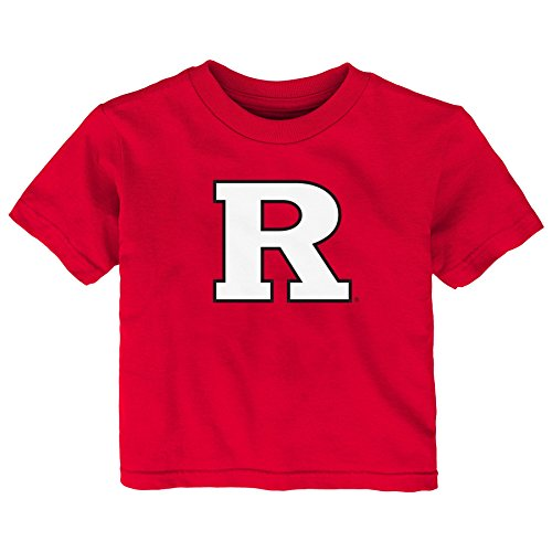 carlet Knights Toddler Primary Logo Short Sleeve Tee, 2T, Red (Rutgers T-shirts)