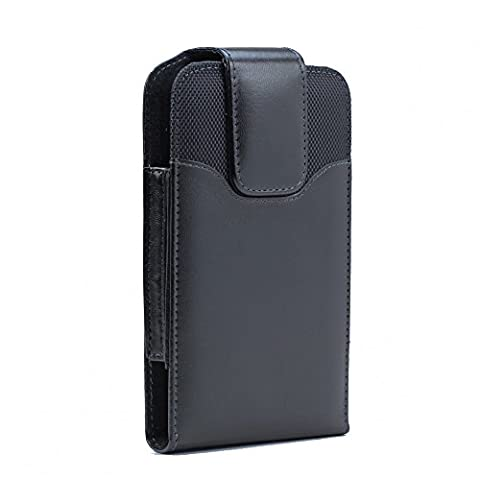 XXL Size Iphone 7 / 6S / 6 Premium Vertical Leather Belt Clip Holster Pouch Case Cover ( Iphone 7 / 6S / 6 with OTTER BOX Defender / LIFEPROOF / Mophie Juice Pack Air/Plus Case - Iphone Vertical Case