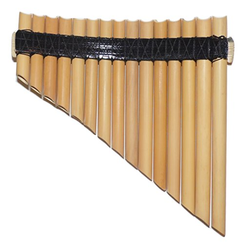 CASE INCLUDED ITEM IN USA PAN FLUTE 13 PIPES INCA MOTIFS