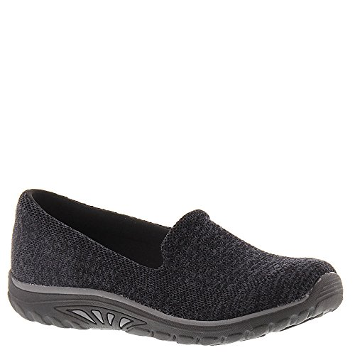 Skechers Relaxed Fit Reggae Fest Stitch Up Womens Slip On Loafers Black