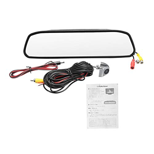 - 4.3 Inch Car TFT LCD Monitor Mirror + HD CCD 170 Degree Wide Angle Reverse Rear View Backup Camera Rearview Camera Kit