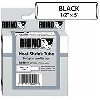 DYMO RHINO 1/2IN X 5FT, WHITE HEAT SHRINK TUBES