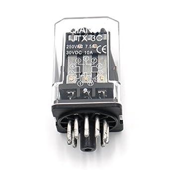 baomain electromagnetic relay jtx 3c ac 12v 3pdt 3 no 3 nc 11 pin
