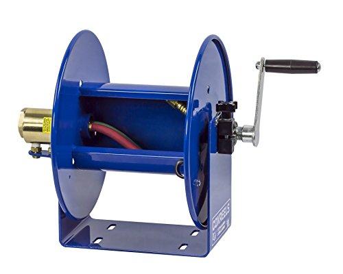 Coxreels 112WL-1-50 Welding Hand Crank Hose Reel: 1/4 I.D., 50' twin oxy-acetylene welding hose capacity, less hose, 200 PSI by Coxreels