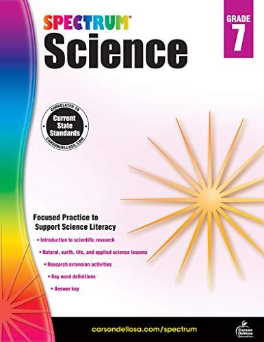 Carson-Dellosa Spectrum Science Workbook, Grade 7