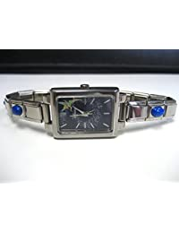 ORIGINAL LICENSED DISNEY TINKERBELL WATCH WITH GENUINE BLUE LAPIS STONE BAND