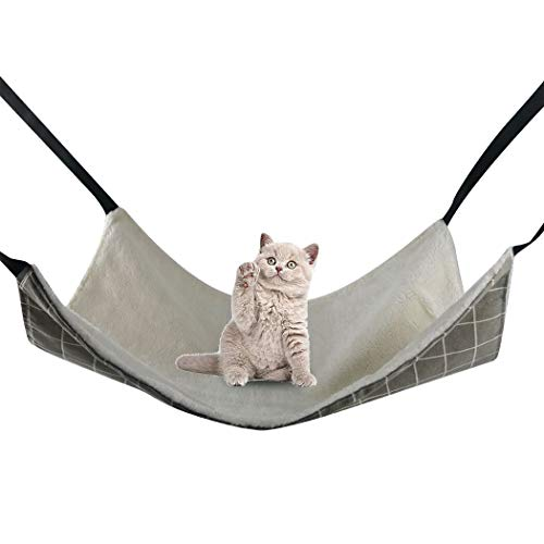 RayCC Ajustable Cat Hammock Cat Bed Sleeping Hammock Hanging Cage Chair Hammock for Cat Small Dogs...