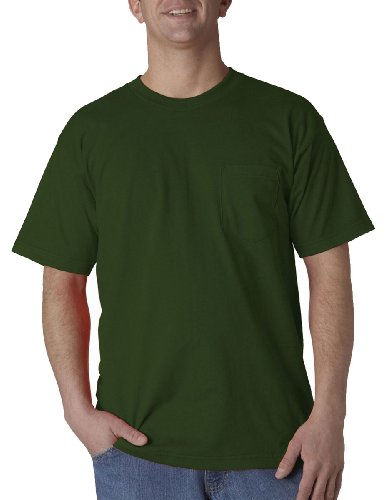 Bayside Mens Union Made Pocket Tee (3015) -Forest Green -S (3015 Bayside Union)
