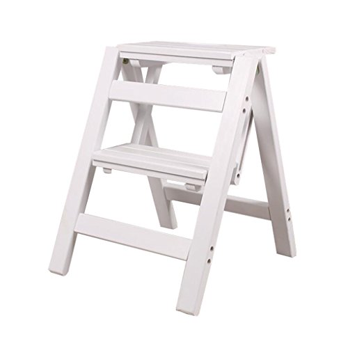 Step Stool Wood,Bed Steps/Plant Stand Multifunctional 2 Layer Solid Wood Step Stool Adult Furniture for Kitchen Living Room Bedroom Bathroom (Color : #2)