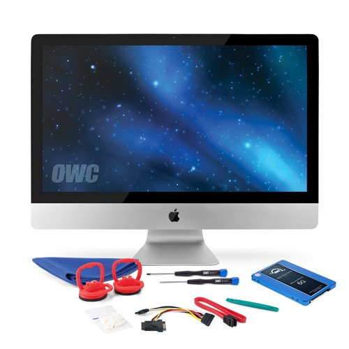 OWC SSD Upgrade Kit For 2010 27-inch iMacs, OWC Mercury Electra 120GB 6G SSD, 18'' SATA III 6Gbps data cable, SSD Power Cable, Installation tools and iMac screen adhesive tape set by OWC