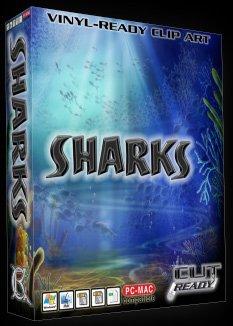 Shark Vector Clipart Vinyl Cutter Slgn Design Artwork-EPS Vector Art Software plotter Clip Art Images