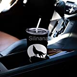 Howling Wolf Moon Stainless Steel Tumblers Travel