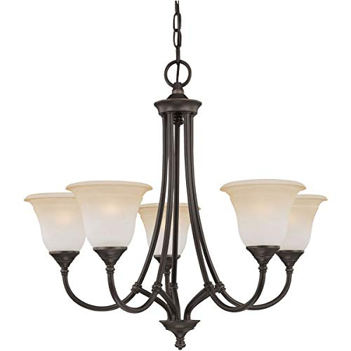 Chandeliers 5 Light Fixtures with Aged Bronze Finish Metal Material E26 26