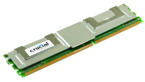(Crucial 2GB Single DDR2 667MHz (PC2-5300) CL5 Fully Buffered ECC FBDIMM 240-Pin Server Memory CT25672AF667)