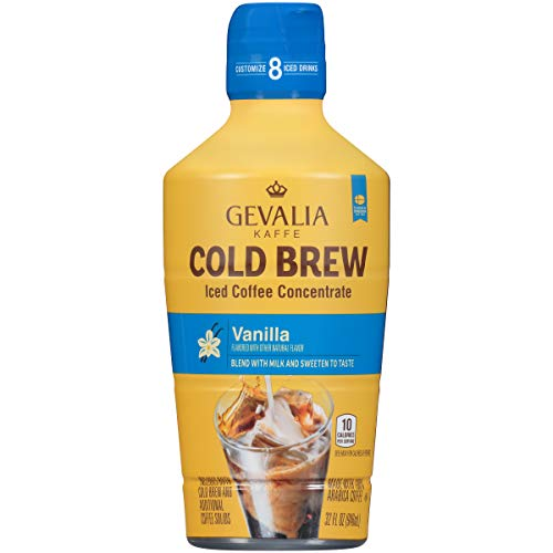 Gevalia Cold Brew Vanilla Iced Coffee Concentrate (32 oz Bottle) (Best Iced Coffee Drinks)