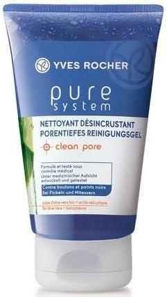 Yves Rocher Pure sistema Pore Tiefes Gel Limpiador Clean Pore con bio Aloe Vera + salicyl Acid contenido: 125ml ayuda contra Alpinismo y mitesser para mejorar la imagen piel. Gel limpiador