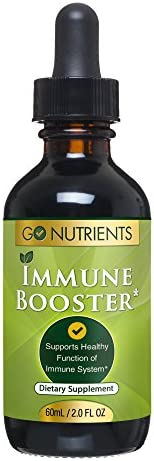 Immune Booster with Echinacea Goldenseal – Stimulate Support Your System Naturally – Liquid Drops – Large 2 oz