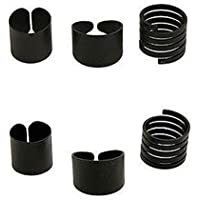 3 Pcs/Set Women Girl Fashion New Wholesale Black Midi Knuckle Rings Gift