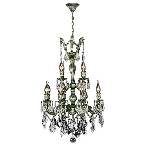 Worldwide Lighting Versailles Collection 12 Light Antique Bronze Finish and Clear Crystal Chandelier 21