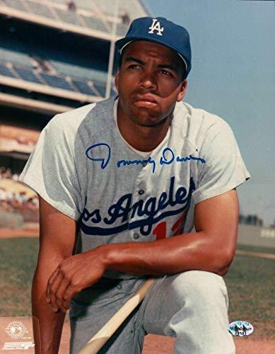 Autographed Tommy Davis Picture - 8X10 Pose Knee COA - Autographed MLB Photos