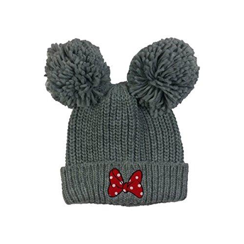 Minnie Mouse Double Pom Knit Beanie