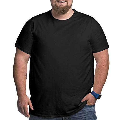 Shiba Inu Men's Plus Size T-Shirt Big and Tall Shirt Black ()