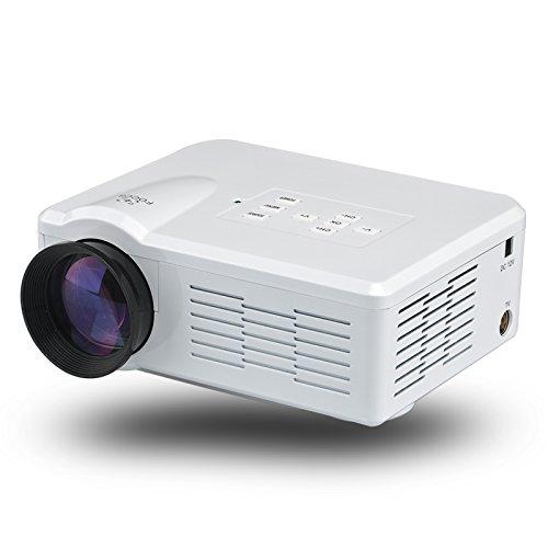 1080p Mini LED Video Projector (80 Lumen, 500:1, 100 Inch, HDMI, White) B07BL2LHJQ