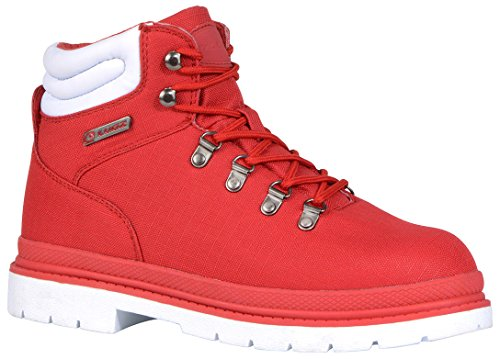 Lugz Men's Grotto Ripstop Winter Boot, Mars Red/White, 11 M (Red Mens Boots)