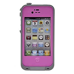 TY Airtight Tough Protective 2m Underwater Waterproof Plastic Case for iPhone 4/4S (Assorted Colors) , Purple