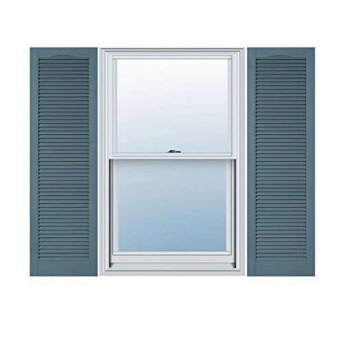 Mid America L51855004 Custom Cathedral Top, Open Louver Shutter (Per Pair), 18