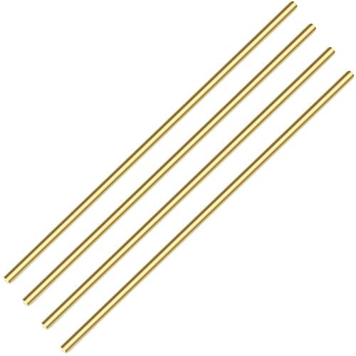 Sutemribor Brass Solid Round Rod Lathe Bar Stock, 3/16 inch in Diameter 14 inch in Length (4 PCS)