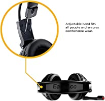 EasyAcc Cuffie Gaming Canale Stereo Suono Surround Virtual 7.1 Over-Ear  Headset con Microfono Flessibile. Caricamento immagini in corso. 553600b0f961