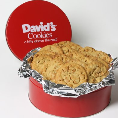 David's Cookies Fresh Baked Peanut Butter Cookies 2 Lb. Gift Tin