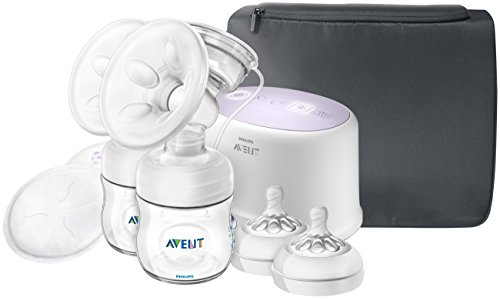 Philips Avent Double Electric Breast Pump + Bonus Power Cushion, SCF334/22 (Select Breast Pump)