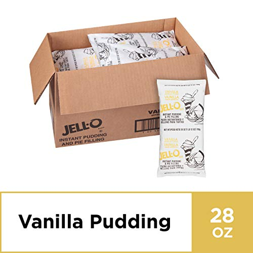 JELL-O Instant Vanilla Pudding & Pie Filling Mix (28 oz Boxes, Pack of 12)