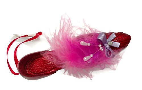 Red Hat Society Shoe Ornament 5 inches (Red Hat Society Ornament)