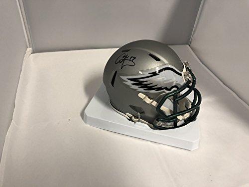 Carson Wentz Signed Autographed Philadelphia Eagles RARE BLAZE SPEED Mini Helmet COA & Hologram (Helmets Philadelphia Eagles Autographed)