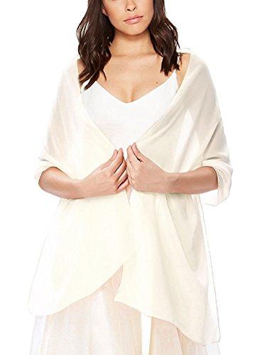 Bridal Wedding Shawl Wrap Women'S Evening Dress Stole Scarves Ivory