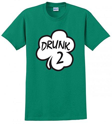 Drunk 2 ST Pattys Saint Patricks Day Irish Clover Beer 1 3 Funny Mens Tee (Clover Beer)