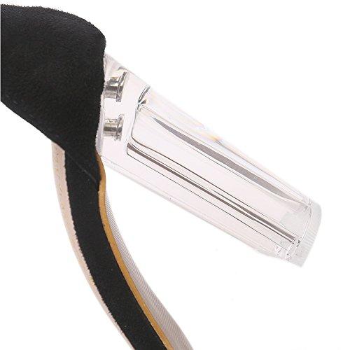 Estate strass alto tacco selvaggia EU36 sandali donna pesce Sandali con bordato SASA bocca da con UK4 trasparenti Nuovo spessore di Sq4AWF