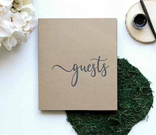 - Modern Notebooks Rustic Wedding Guest Book Alternative, 130 Brown Pages, 8x7 Softcover. Wedding Guestbook with Blank Pages, Rustic Guest Book for Rustic Wedding Decor (Brown)