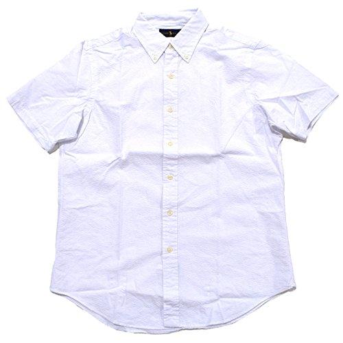 Polo Ralph Lauren Mens Seersucker Short Sleeve Shirt (S, Polo White)