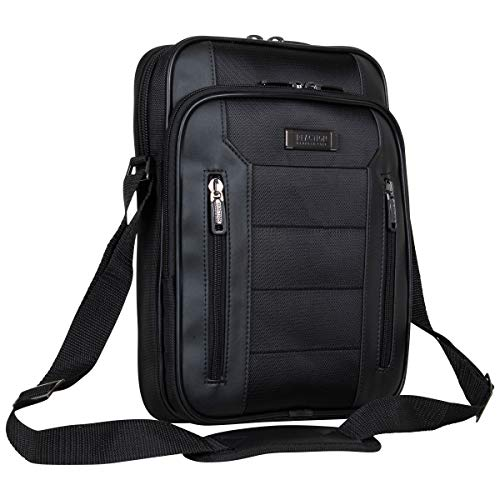 "Kenneth Cole Reaction Keystone 1680d Polyester Single Compartment 12"" Laptop/Tablet Case, Black"