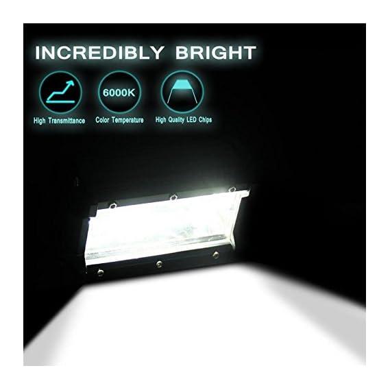 PRIKNIK Universal Fitting Bikes and Cars Double Row Heavy Duty 24 LED 72 Watt 5 Spot Beam Off Road Driving Fog/Work