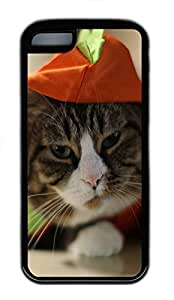 for iphone 5c Case Funny Cat Animal TPU for iphone 5c Case Cover Black