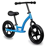 KingSo Kids Balance Bike, 33.5″ Lightweight Traning Children Cycles with Adjustable Handlebar and Seat, Toddler Walking Bicycle for 1-5 Years Toddlers(Toolless Installation)