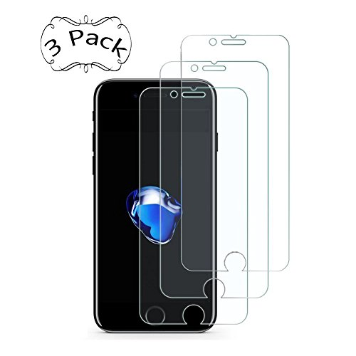 iPhone 8 Plus/7 Plus/6S Plus/6 Plus Screen Protector, UZER Tempered Glass Film 3D Touch Compatible, HD Clear, Ultra-thin, Case Friendly, 9H Hardness, Bubble Free, Anti-Scratch [3 Pack]