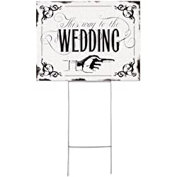 Hortense B. Hewitt Vintage Yard Sign Wedding Accessories, This Way to The Wedding