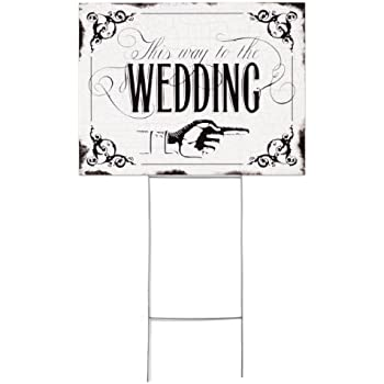 Amazon.com: Hortense B. Hewitt Vintage Yard Sign Wedding Accessories ...