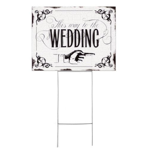 Hortense B. Hewitt Vintage Yard Sign Wedding Accessories, This Way to The Wedding